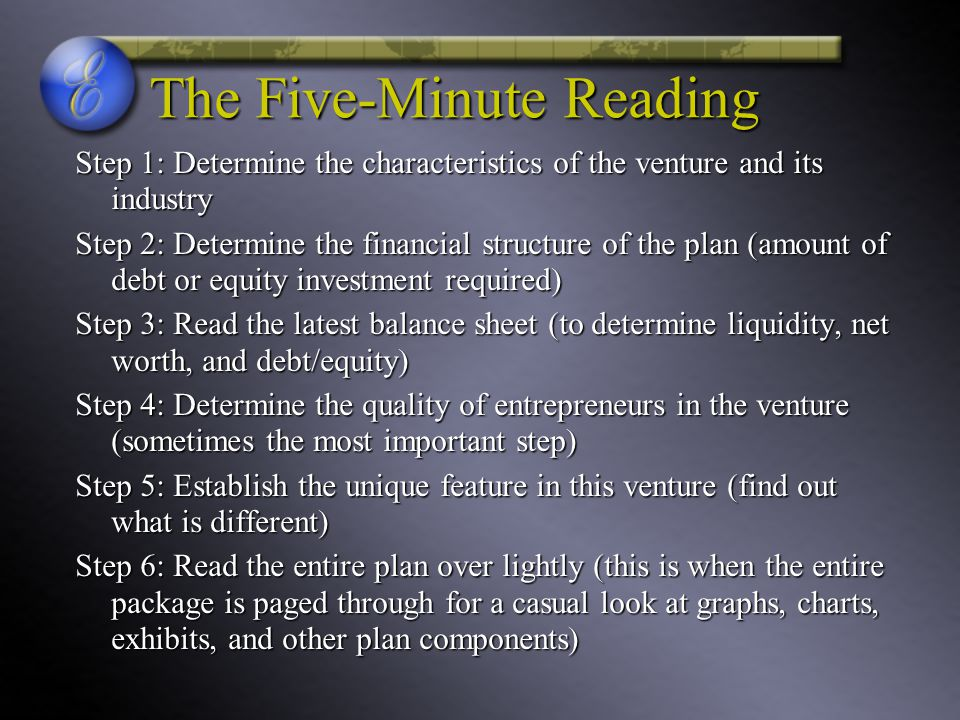 The Five-Minute Reading