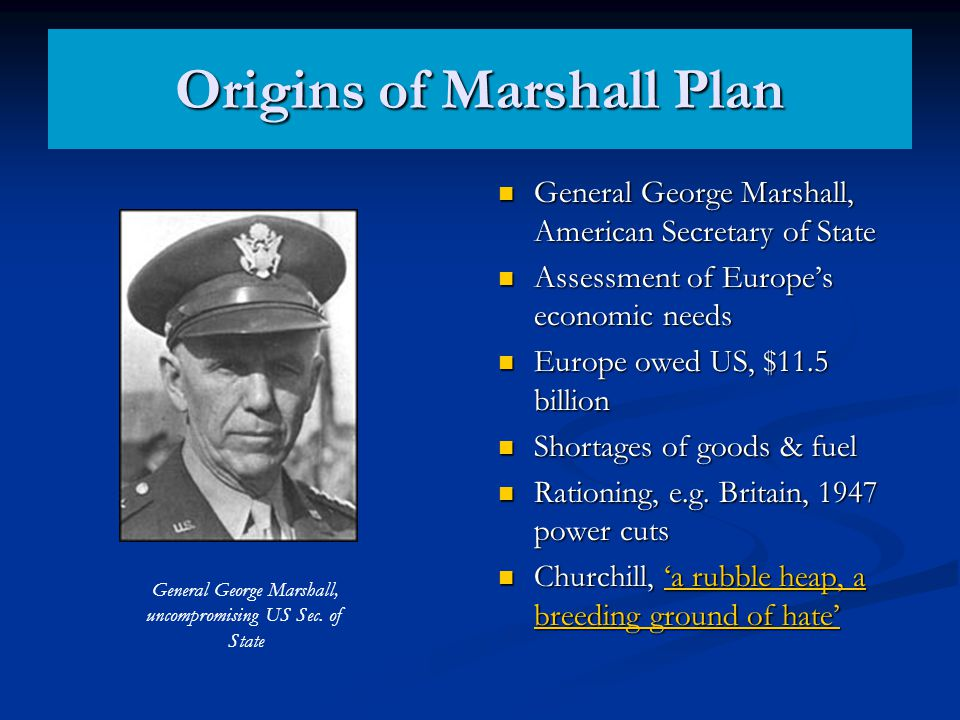 Origins of Marshall Plan