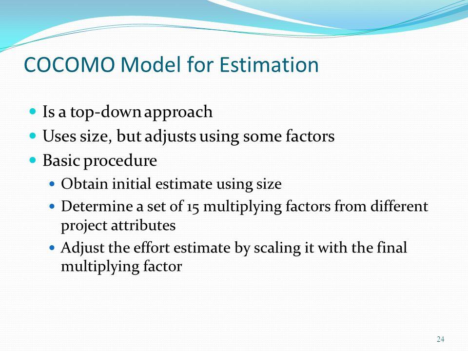 COCOMO Model for Estimation