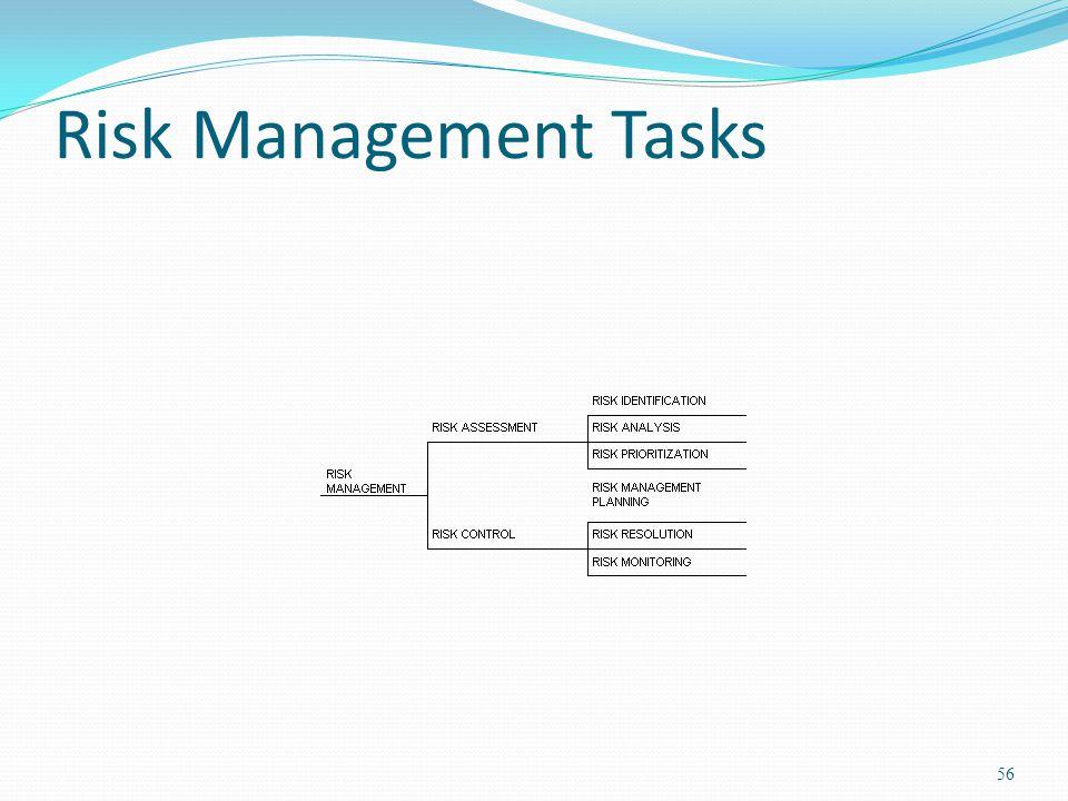 Risk Management Tasks