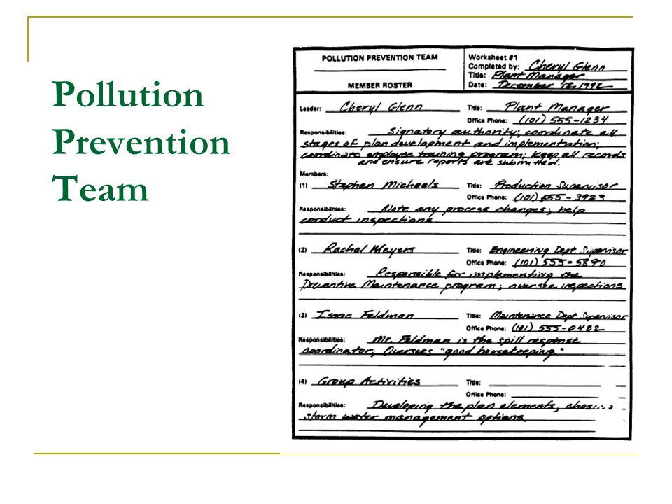 Pollution Prevention Team