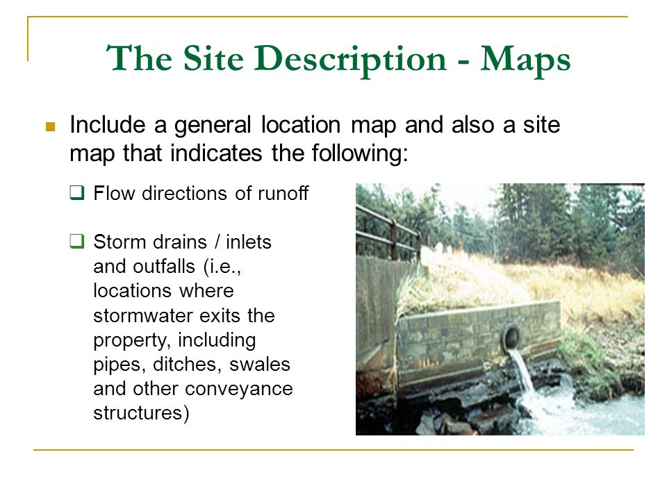 The Site Description - Maps