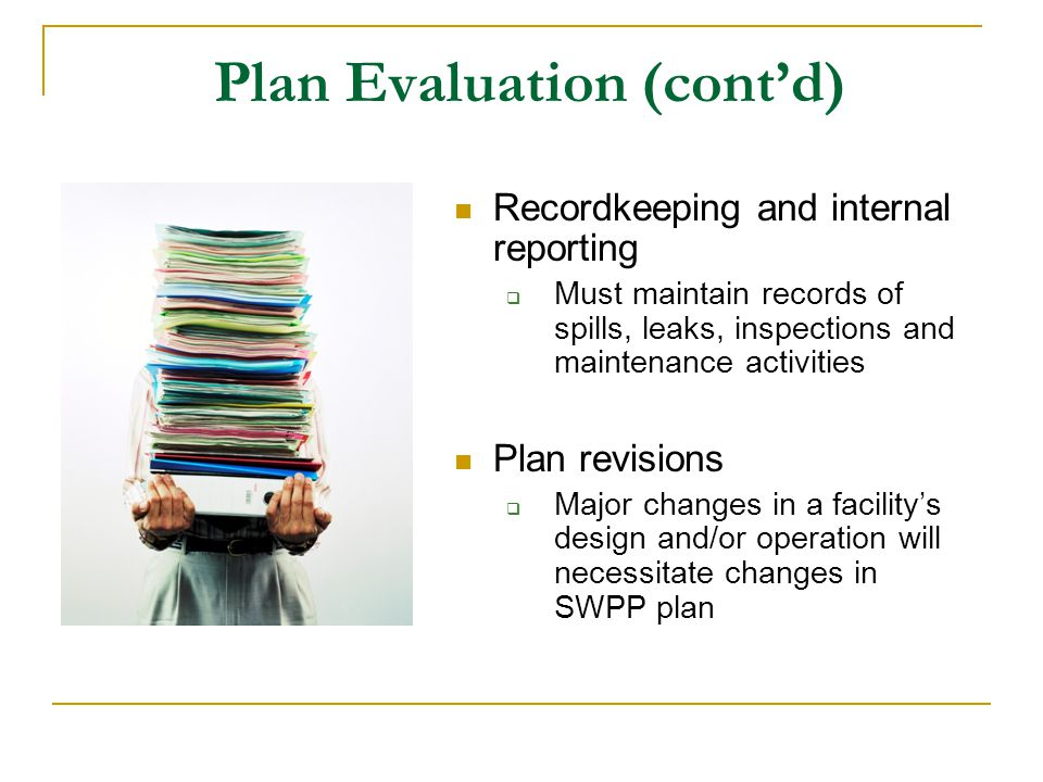 Plan Evaluation (cont'd)