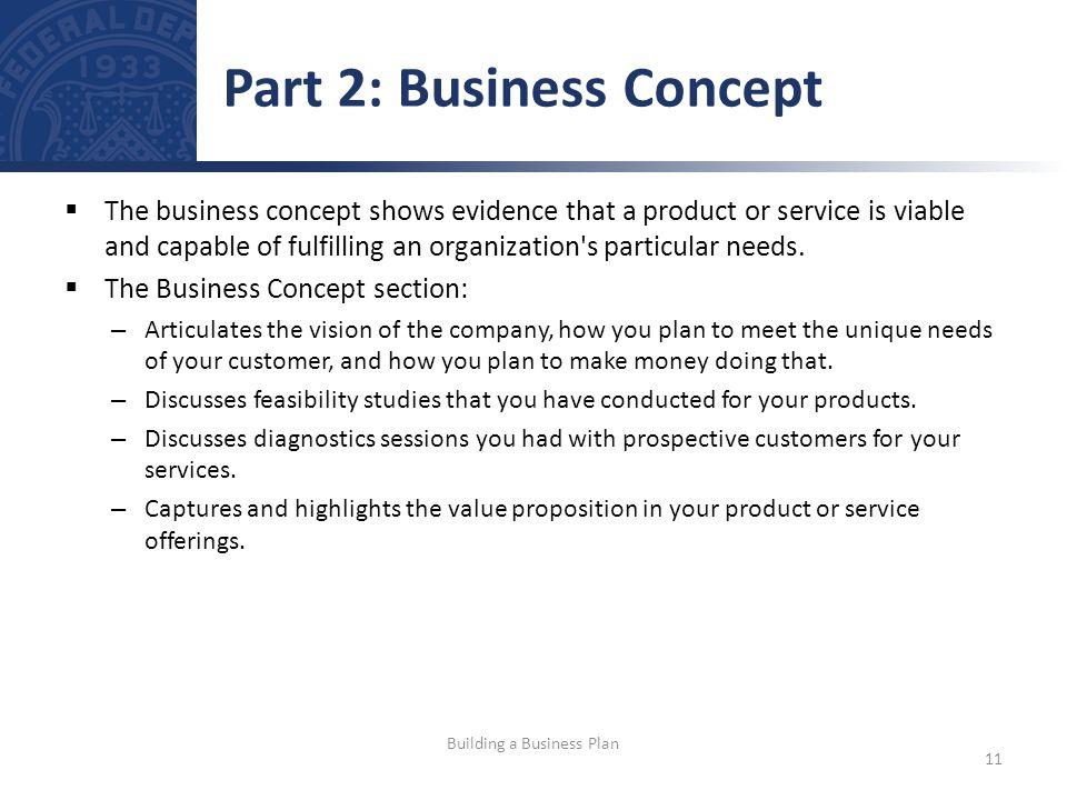 Part 2: Business Concept