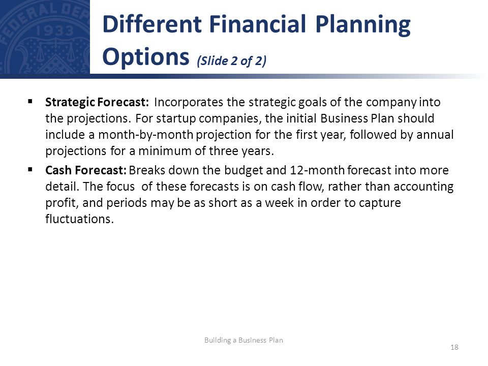 Different Financial Planning Options (Slide 2 of 2)