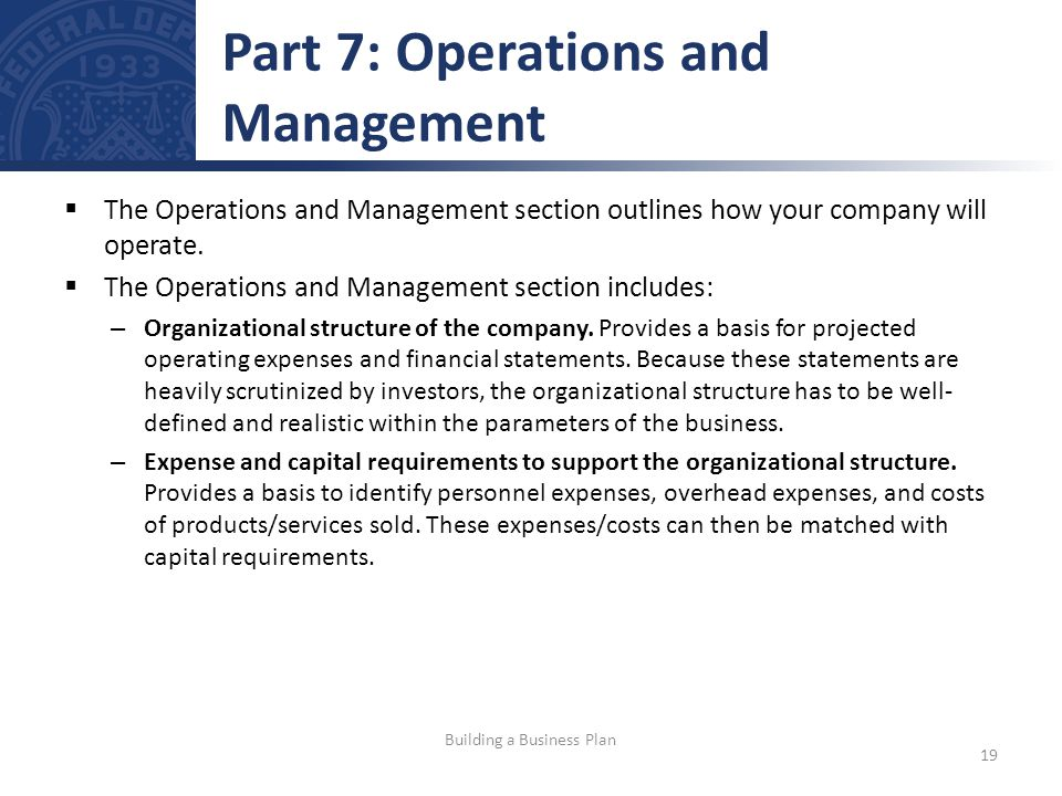 Part 7: Operations and Management