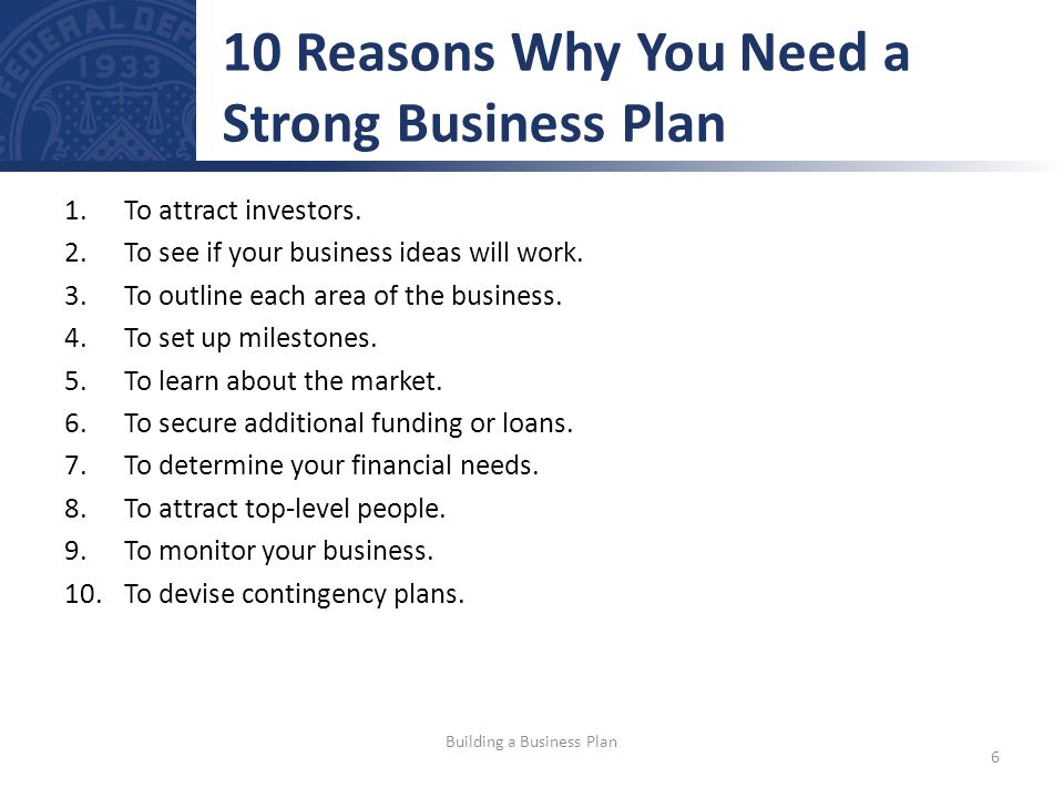 20 Reasons Why You Need a Business Plan | Growthink