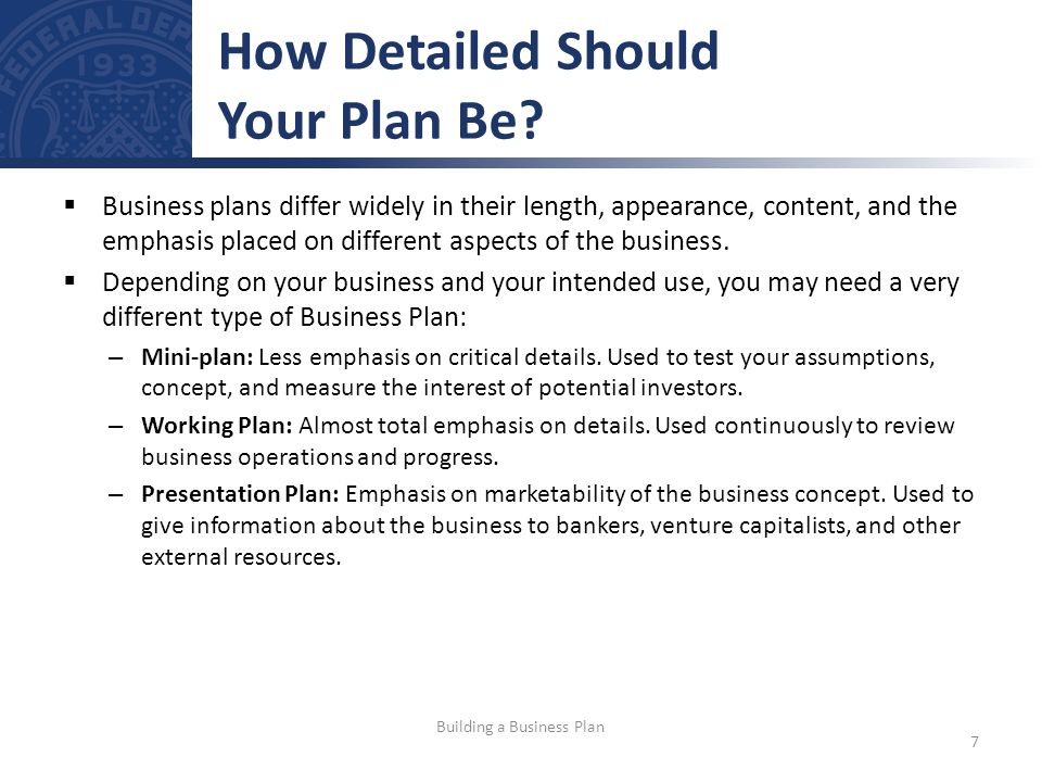 How Detailed Should Your Plan Be