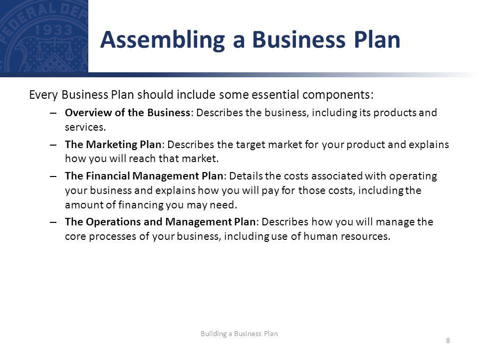 Assembling a Business Plan