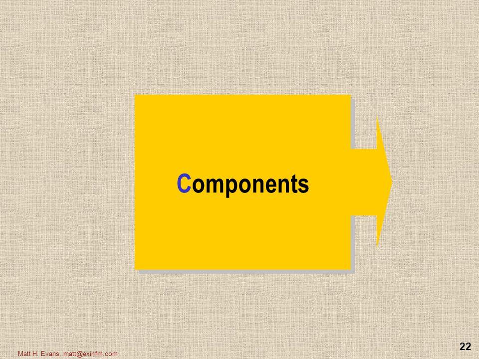 Components Matt H. Evans, matt@exinfm.com
