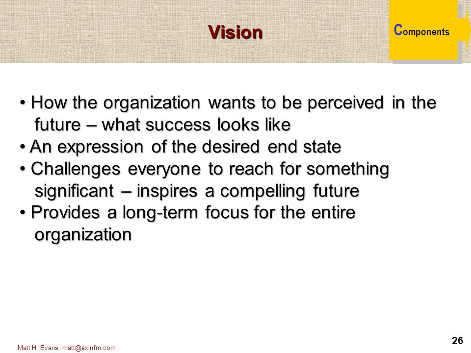 How the organization wants to be perceived in the