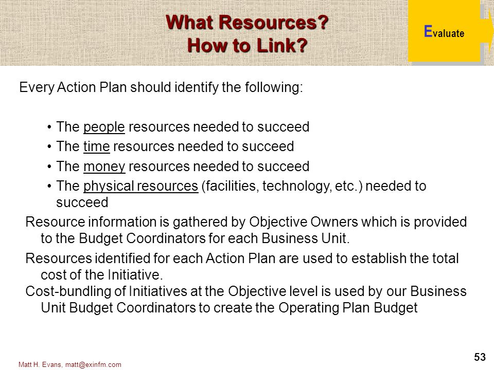 What Resources How to Link