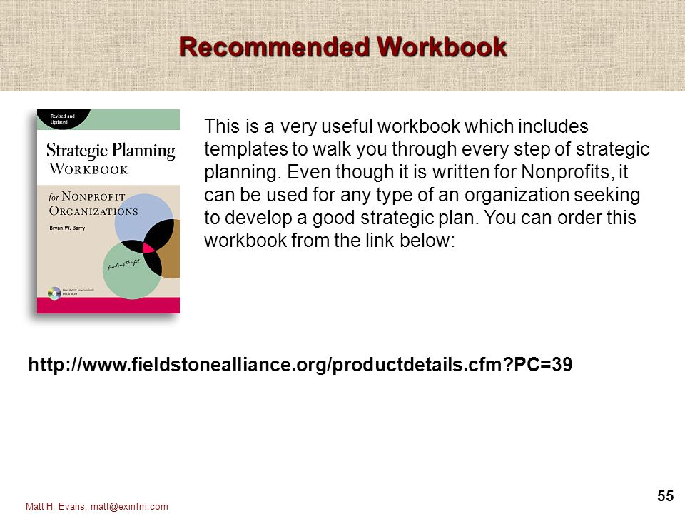Recommended Workbook