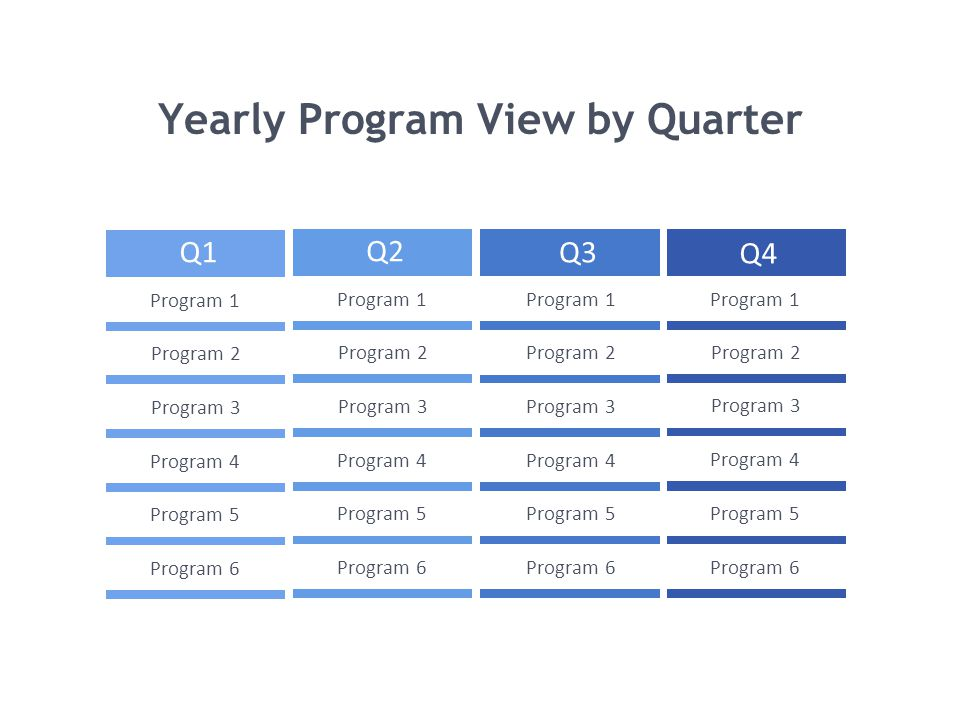 Yearly Program View by Quarter