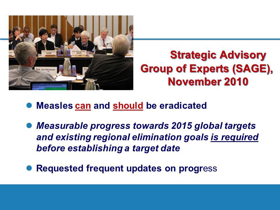 Strategic Advisory Group of Experts (SAGE), November 2010