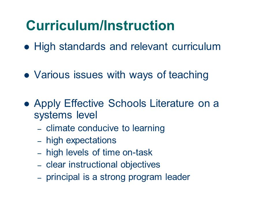 Curriculum/Instruction