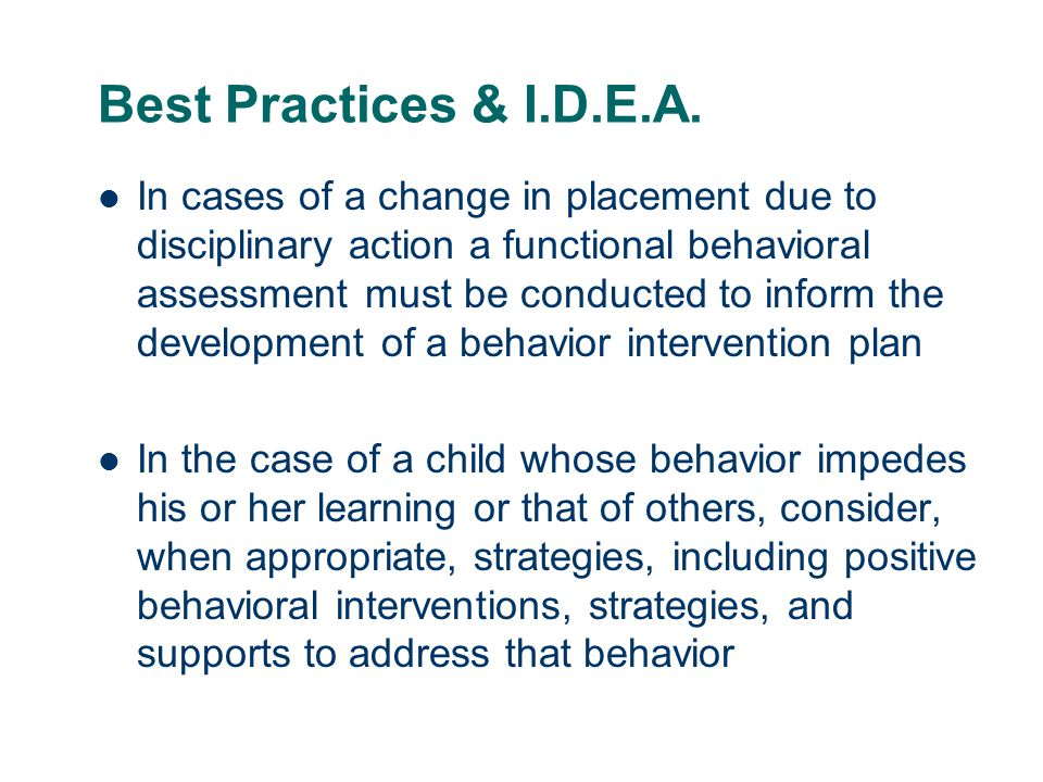 Best Practices & I.D.E.A.