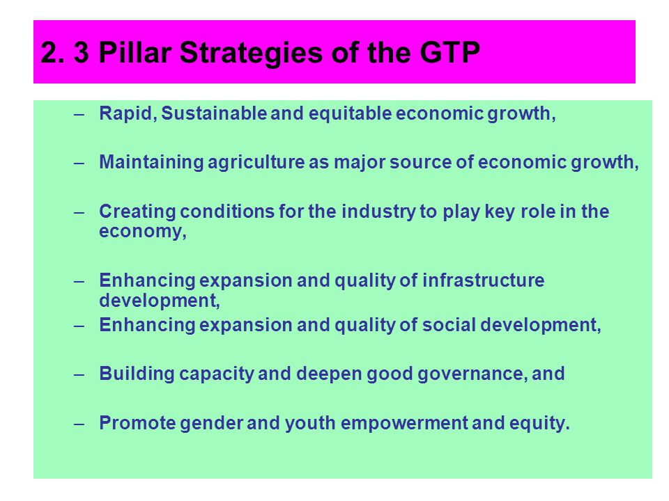2. 3 Pillar Strategies of the GTP