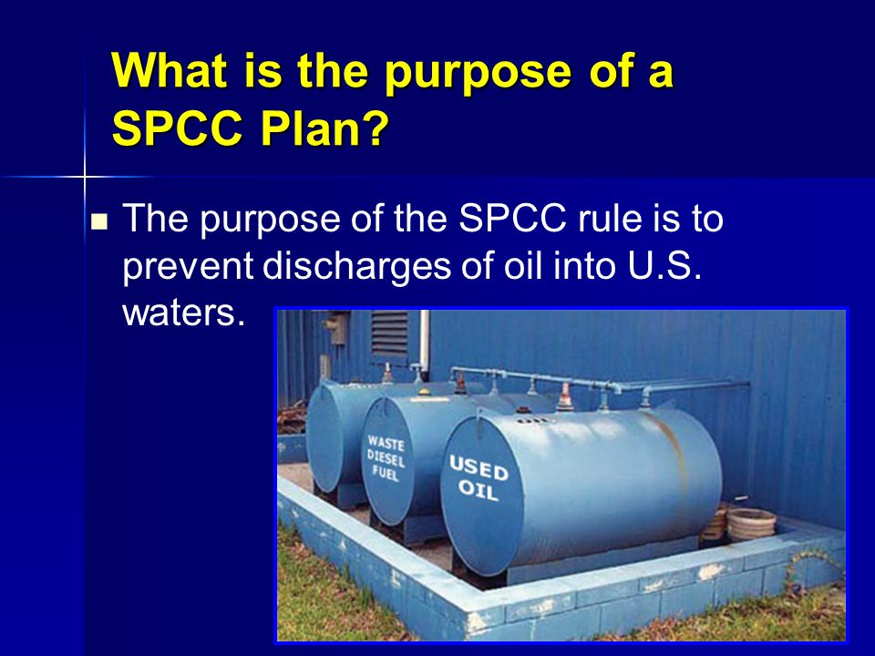 What is the purpose of a SPCC Plan