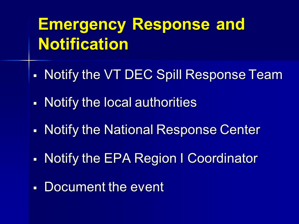 Emergency Response and Notification