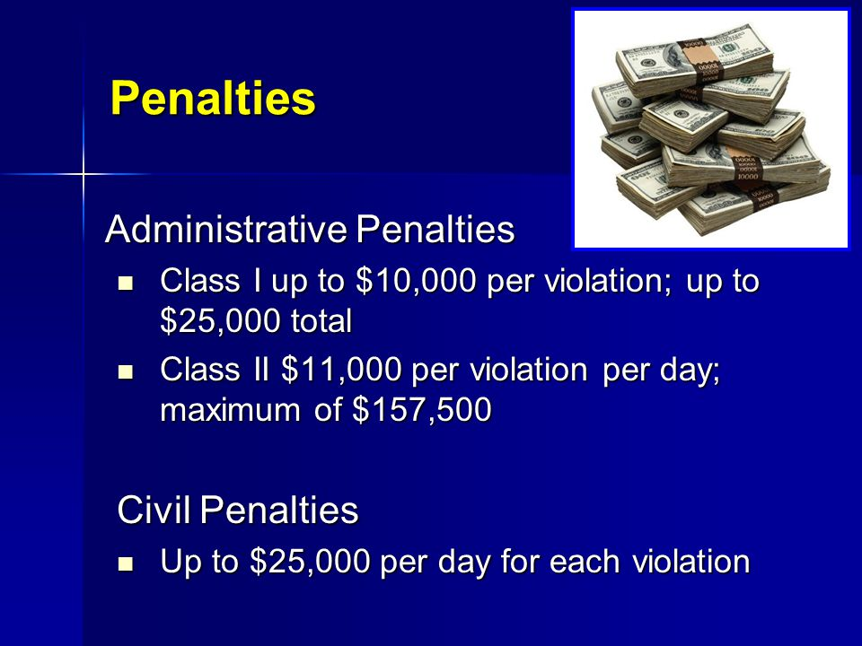 Penalties Administrative Penalties Civil Penalties