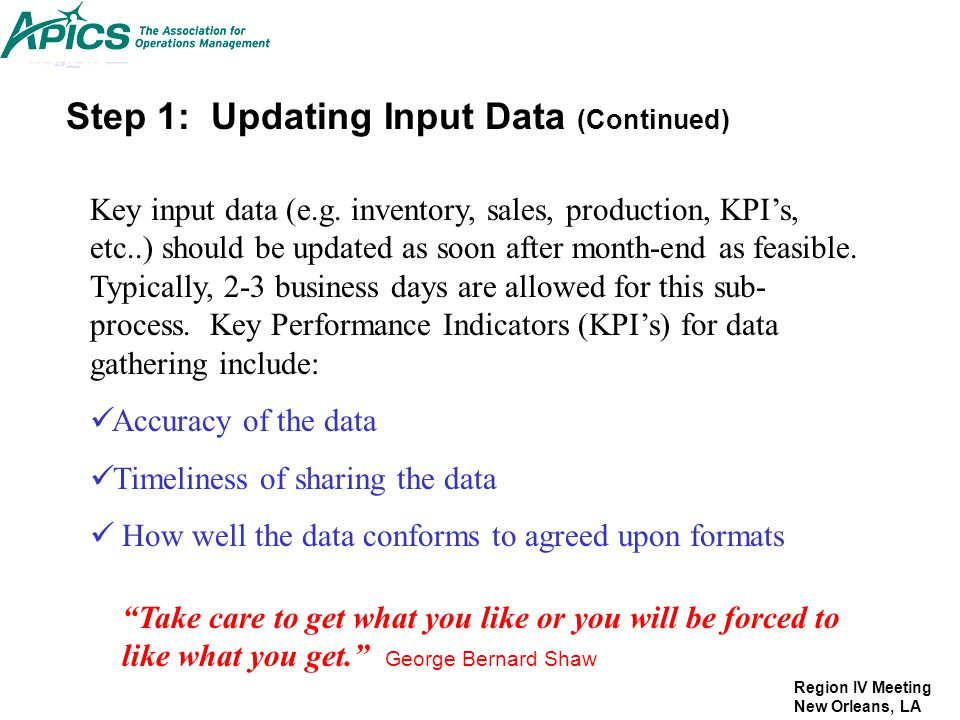 Step 1: Updating Input Data (Continued)