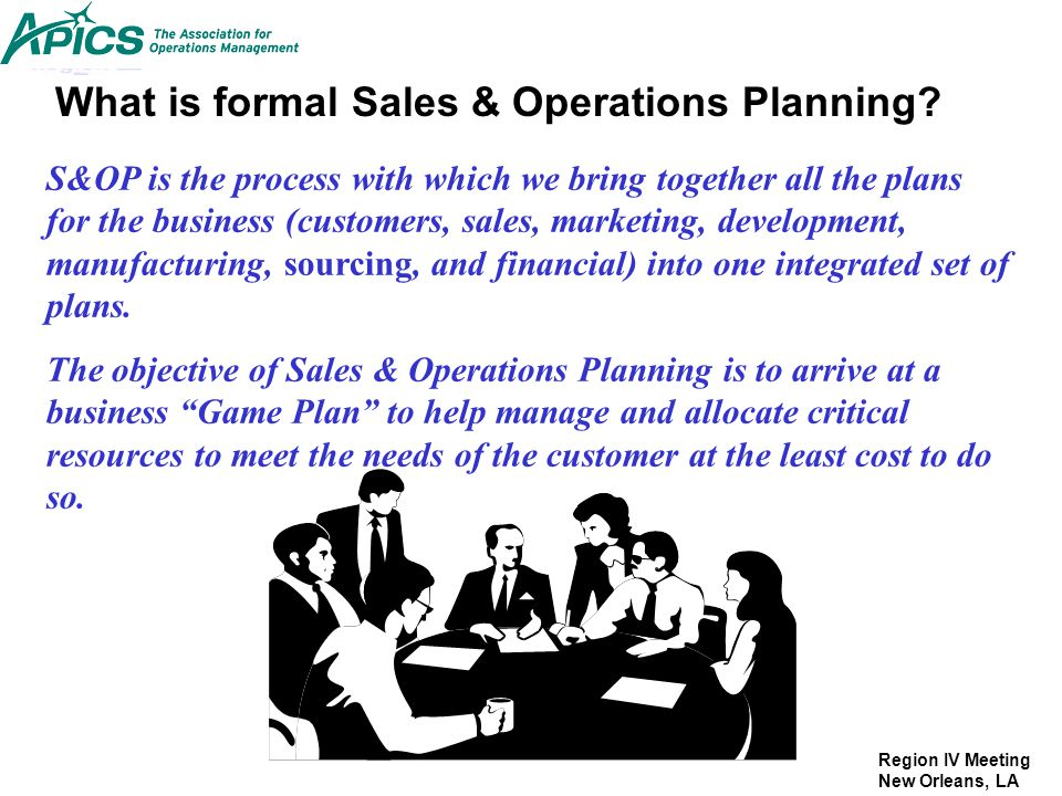 What is formal Sales & Operations Planning