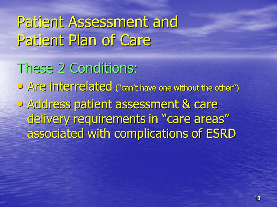 Patient Assessment and Patient Plan of Care