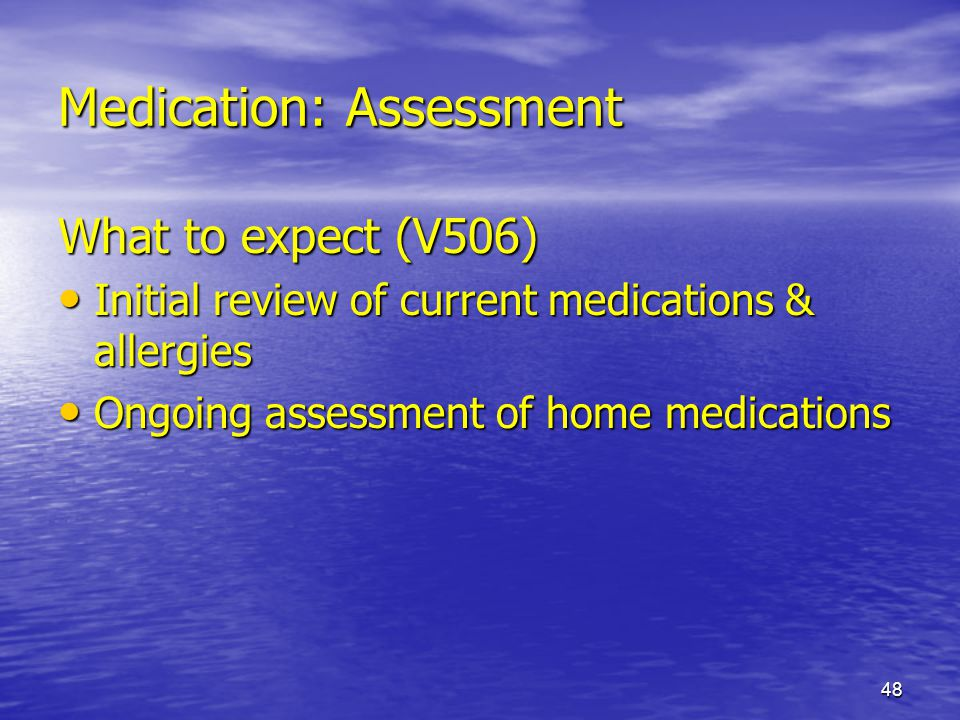 Medication: Assessment