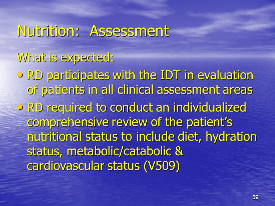 Nutrition: Assessment