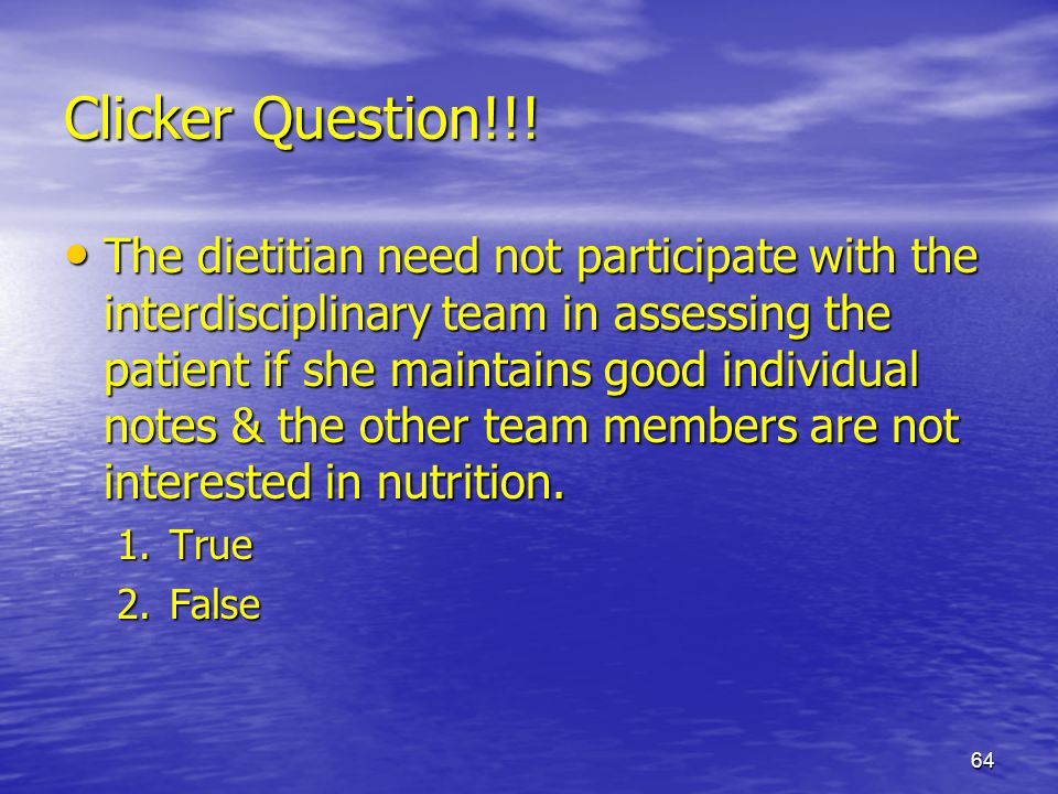 Clicker Question!!!