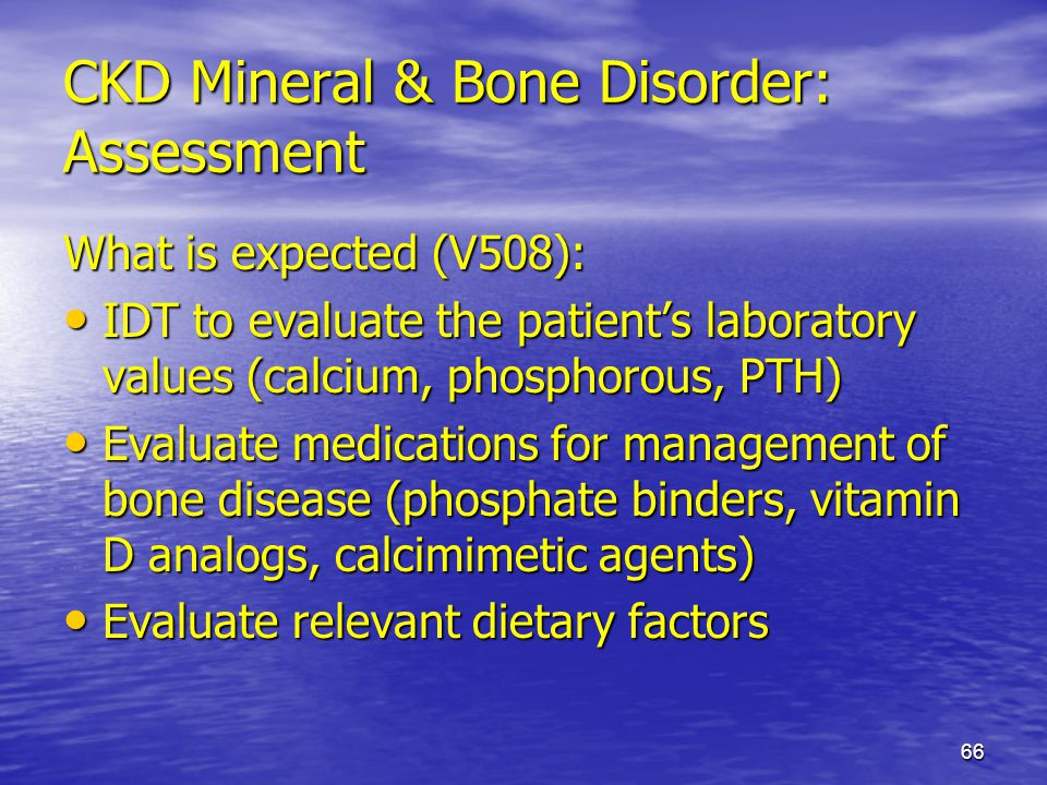 CKD Mineral & Bone Disorder: Assessment