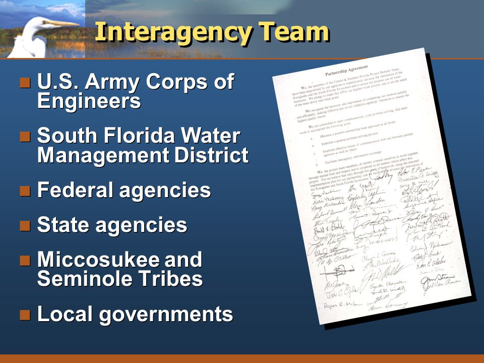 Interagency Team U.S. Army Corps of Engineers