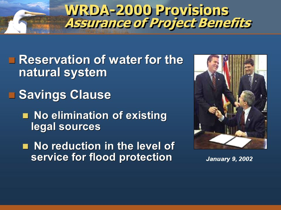 WRDA-2000 Provisions Assurance of Project Benefits