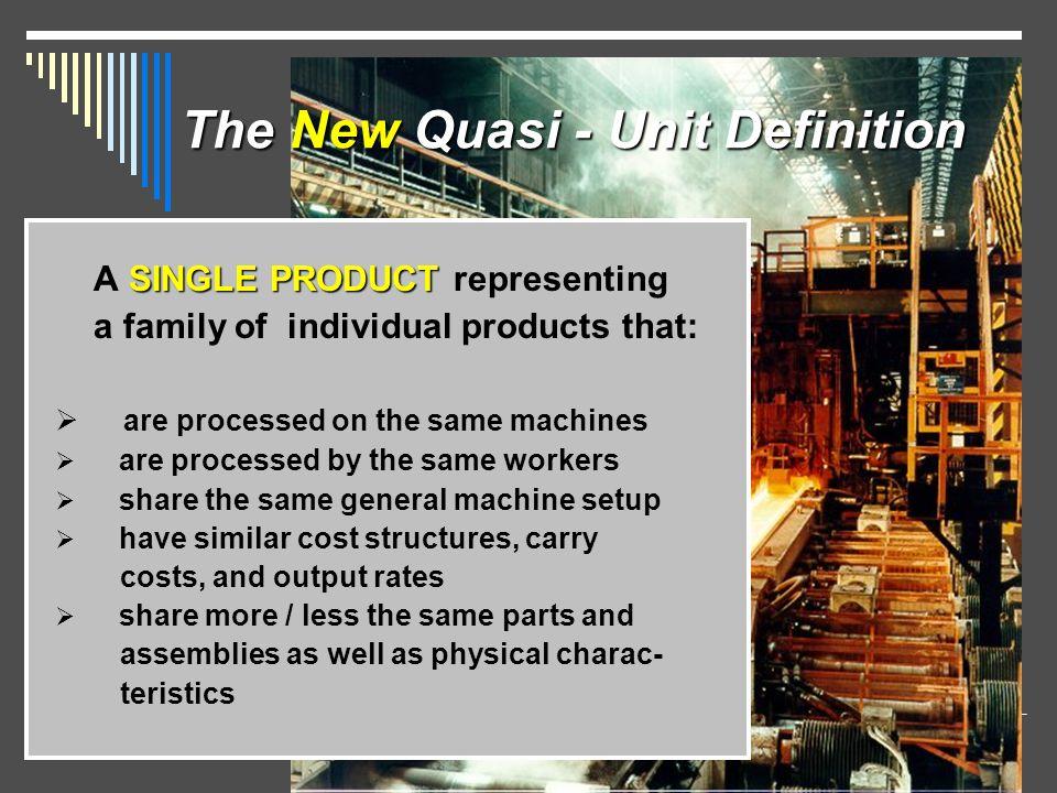 The New Quasi - Unit Definition