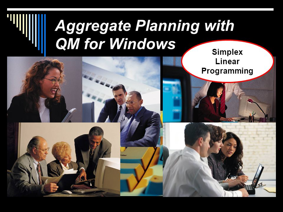Aggregate Planning with QM for Windows