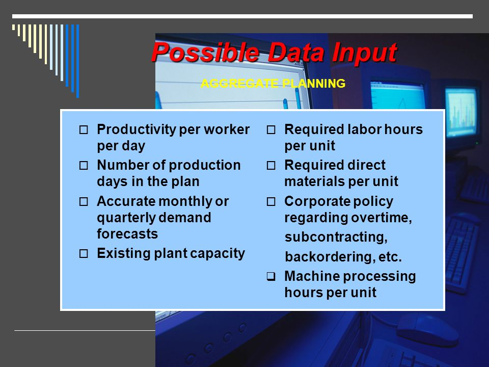 Possible Data Input Productivity per worker per day