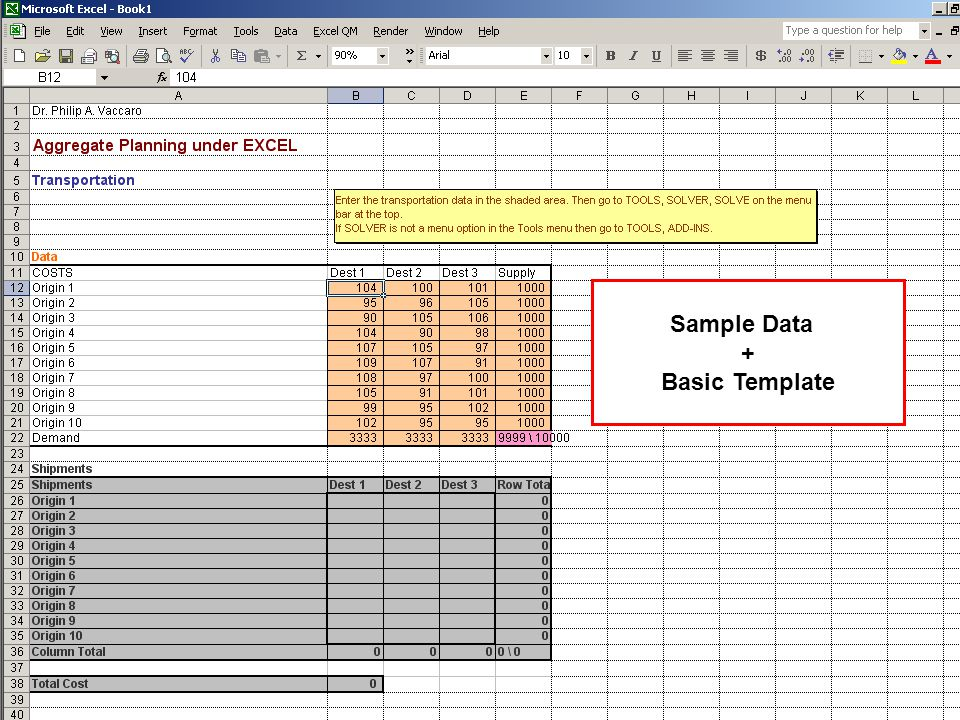 Sample Data + Basic Template