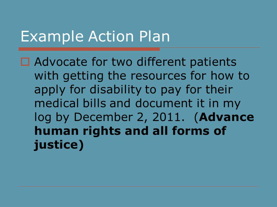 Example Action Plan