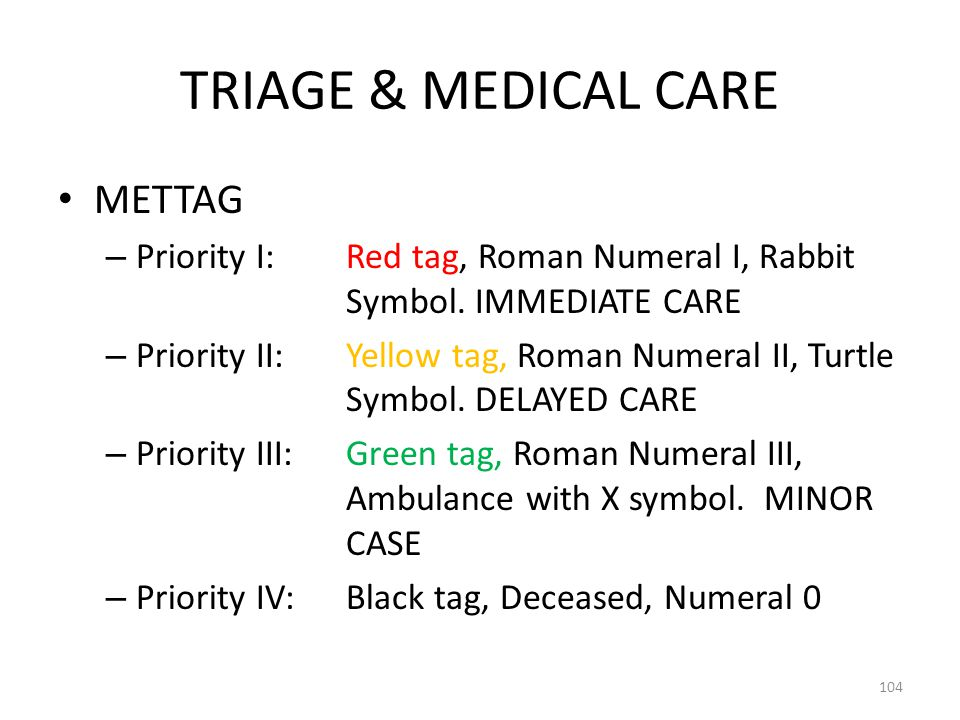 TRIAGE & MEDICAL CARE METTAG