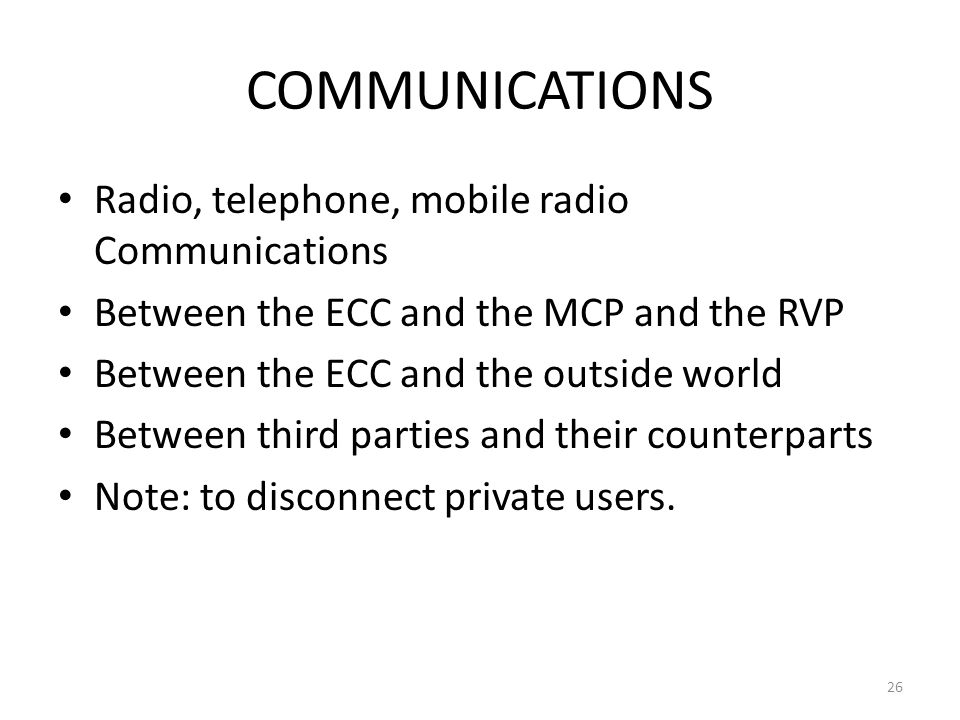 COMMUNICATIONS Radio, telephone, mobile radio Communications