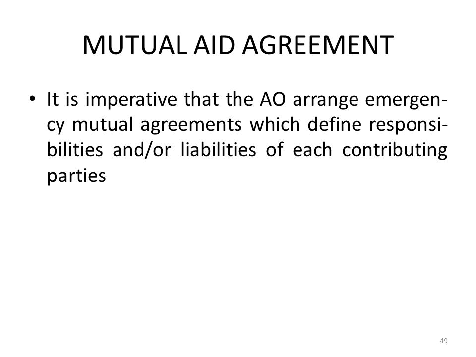 COSCAP-BAG MUTUAL AID AGREEMENT.