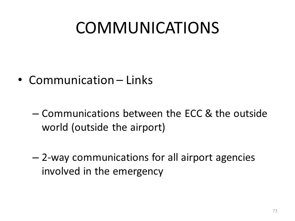 COMMUNICATIONS Communication – Links