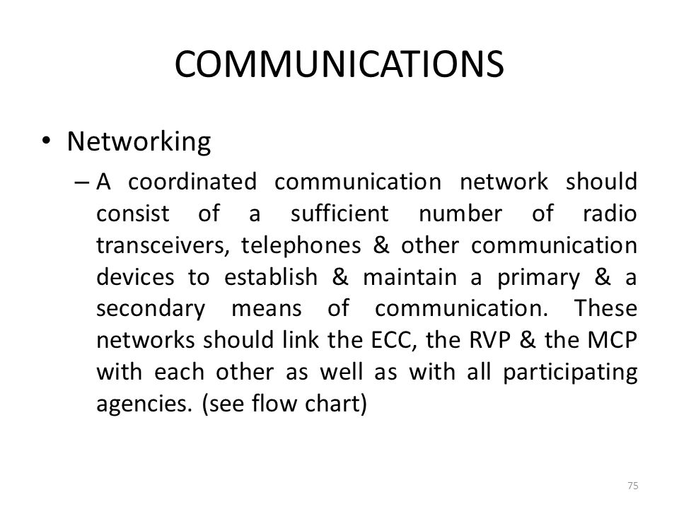 COMMUNICATIONS Networking