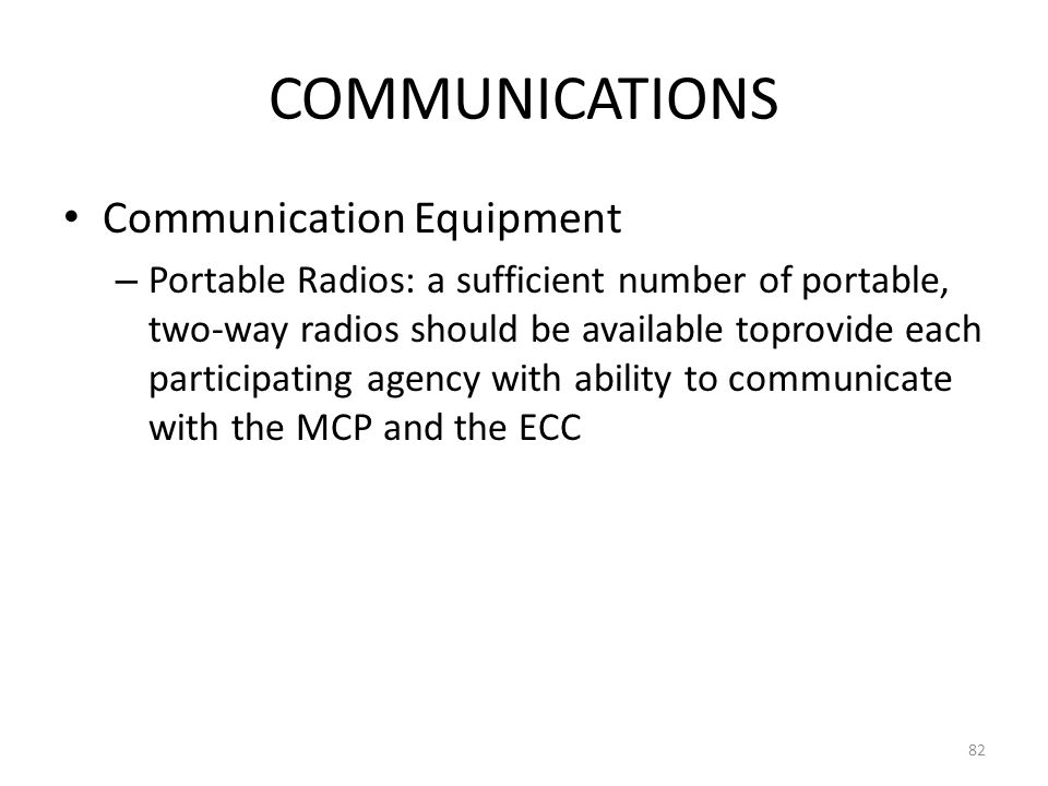 COMMUNICATIONS Communication Equipment