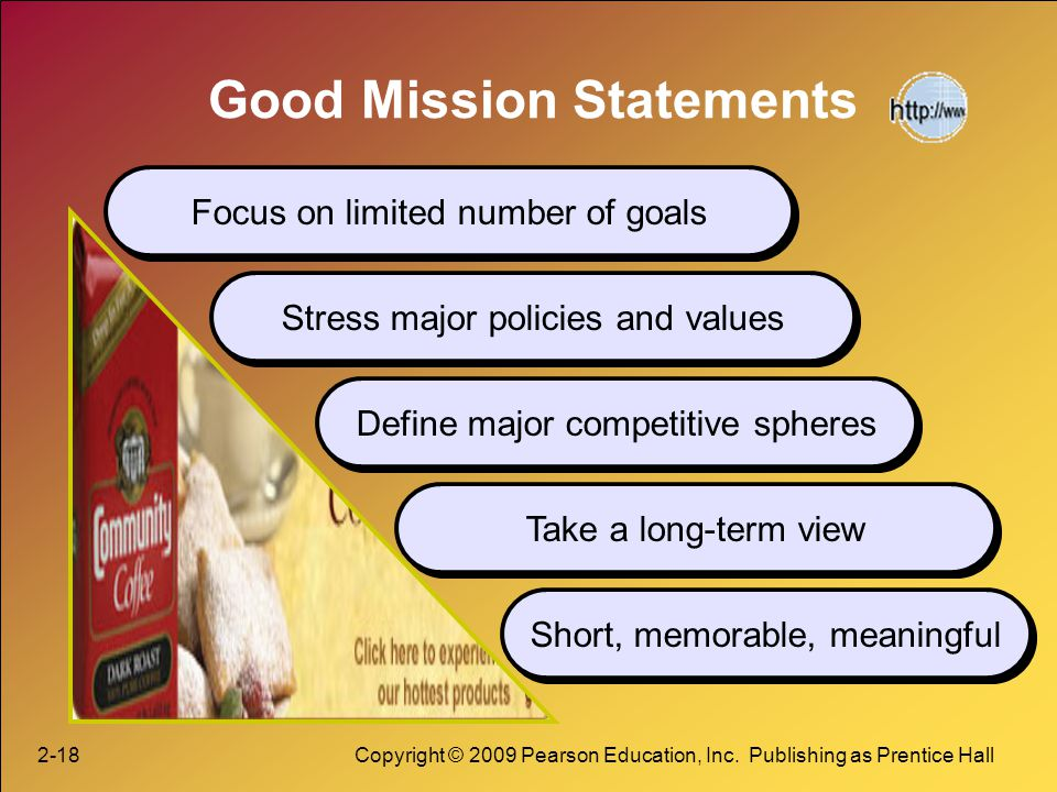 good mission statements have five major In addition, one of the first things that one learns in a business school is the importance of vision and mission statements porter's five forces model.