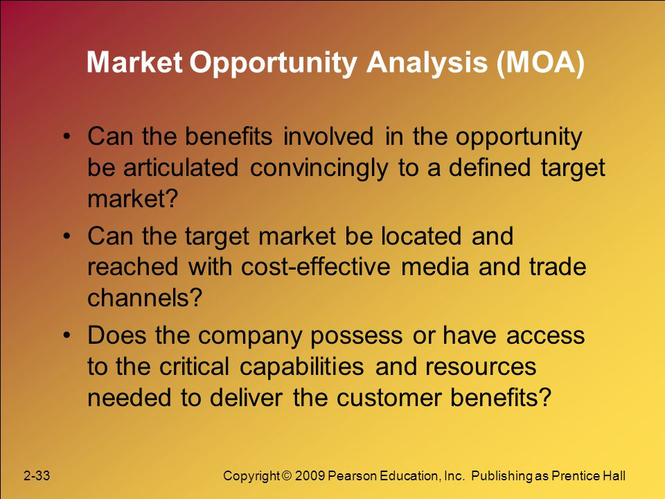 Market Opportunity Analysis (MOA)