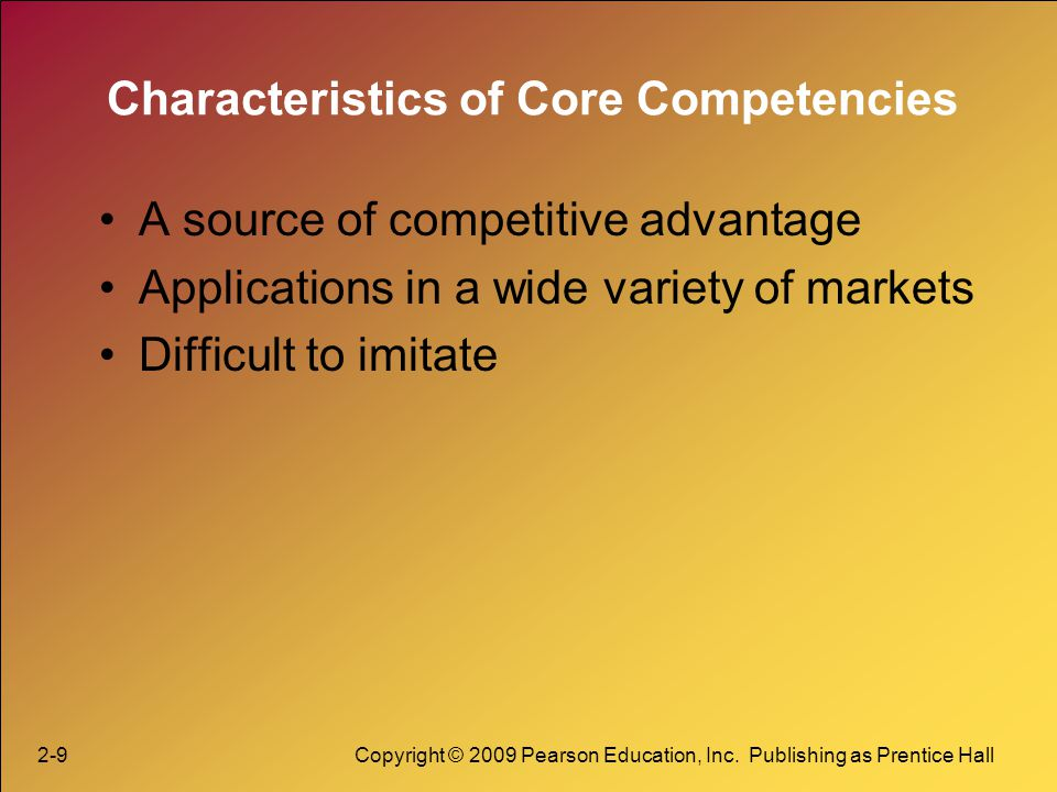 Characteristics of Core Competencies