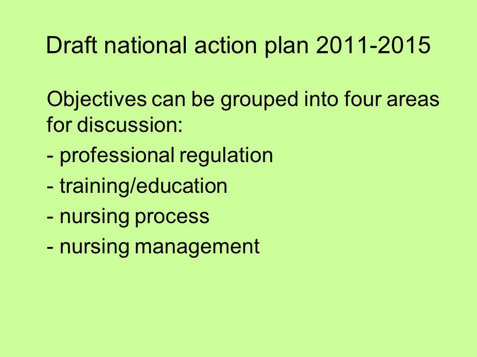 Draft national action plan 2011-2015