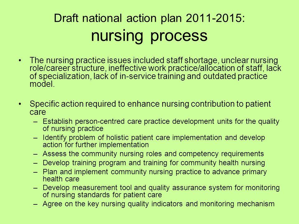Draft national action plan 2011-2015: nursing process